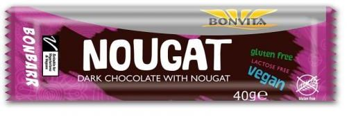 Baton nugatowy bez laktozy bezglutenowy BIO 40 g Bonvita
