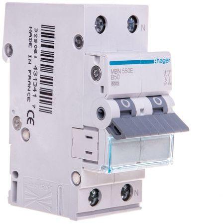 Wyłącznik nadprądowy 1+N B 50A 6kA AC MBN550E