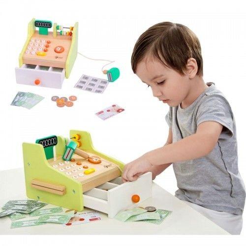 Kasa Sklepowa Dla Dzieci Drewniana Classic World Banknoty Karta