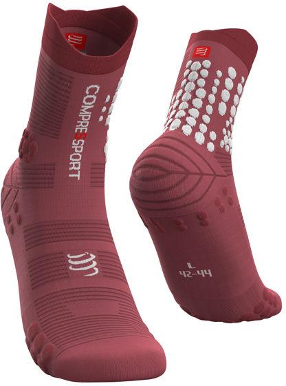 Skarpety biegowe TRAIL Pro Racing Socks v 3.0 - do biegów po górach - GARNET ROSE