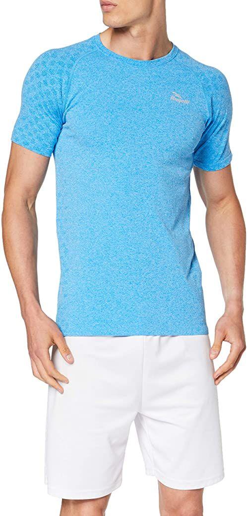 Rogelli Men''s Seamless T-shirt, niebieski, 2XL