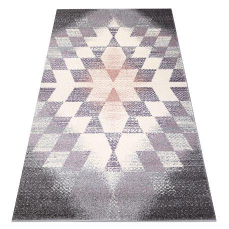 Dywan KAKE 25812757 Geometryczny - Romby, Trójkąty 3D fioletowy / szary / róż 120x170 cm