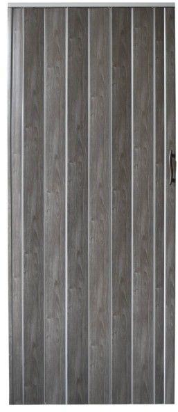 Drzwi harmonijkowe Natura 001P-80-64 dąb grafitowy