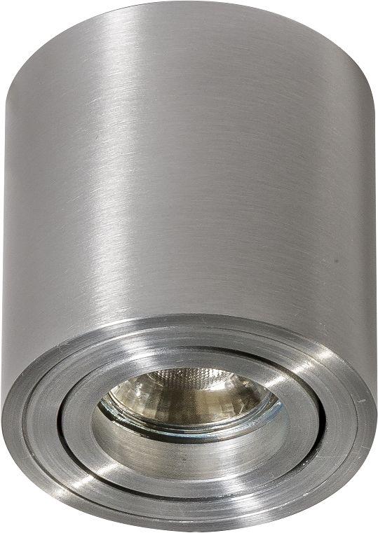 Plafon Mini Bross AZ1756 AZzardo minimalistyczna oprawa w kolorze aluminium