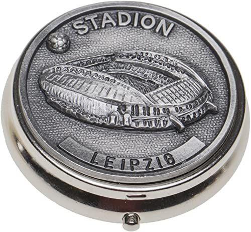 Schnabel-Schmuck Leipzig pojemnik na tabletki nakładka cyna stadion piłkarski