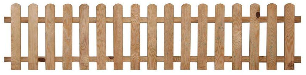 Płotek ogrodowy 180 x 40 cm drewniany sztachetowy STELMET
