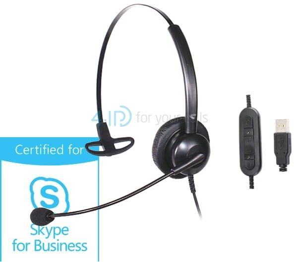 Platora Basic-M USB słuchawka z mikrofonem do PC (złącze USB)