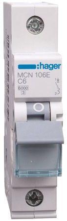Wyłącznik nadprądowy 1P C 6A 6kA AC MCN106E