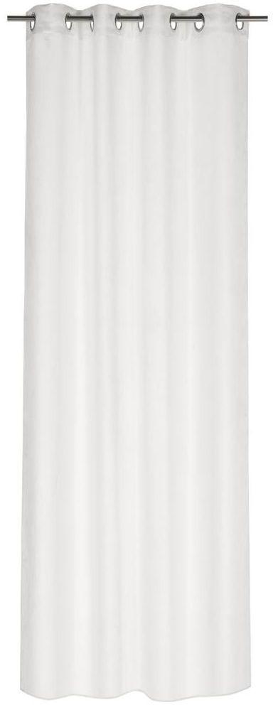 Zasłona Suede biała 140 x 260 cm na przelotkach Inspire