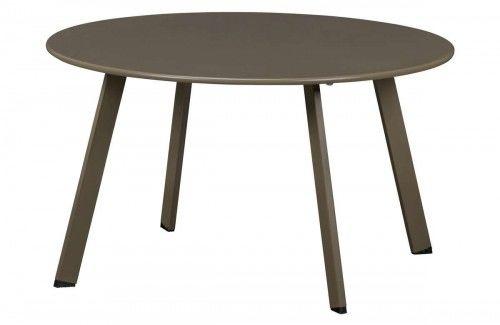 Oliwkowy metalowy stolik kawowy Fer 70cm Wood