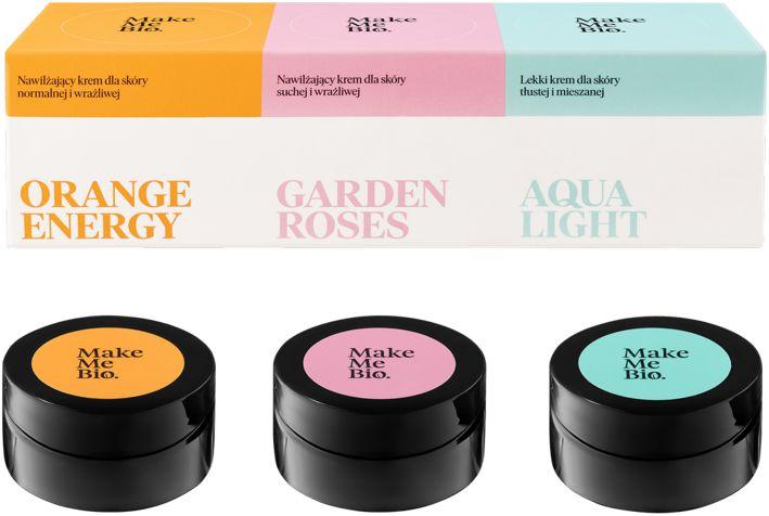 Make Me Bio Kremy Klasyki: Garden Roses, Orange Energy i Aqua Light 3x 20 ml