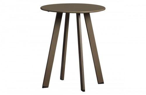 Oliwkowy metalowy stolik kawowy Fer 40cm Wood