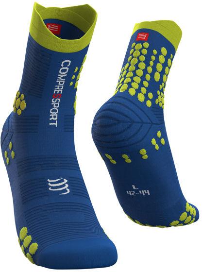 Skarpety do biegania TRAIL Pro Racing Socks v 3.0 - do biegów po górach - BLUE/LIME