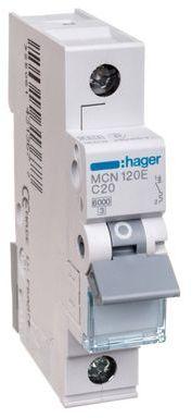 Wyłącznik nadprądowy 1P C 20A 6kA AC MCN120E