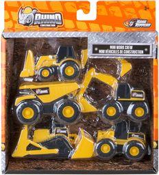 Rhino Construction Mini maszyny, 5 opakowań (Nikko Toys LTD 30030)