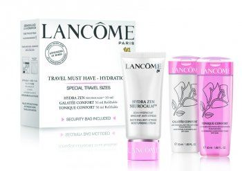 Lancome Travel Must Have Hydration Hydra Zen Neurocalm krem 30ml + Galatee Confort mleczko 50ml + Tonique Confort tonik - 50ml Do każdego zamówienia upominek gratis.
