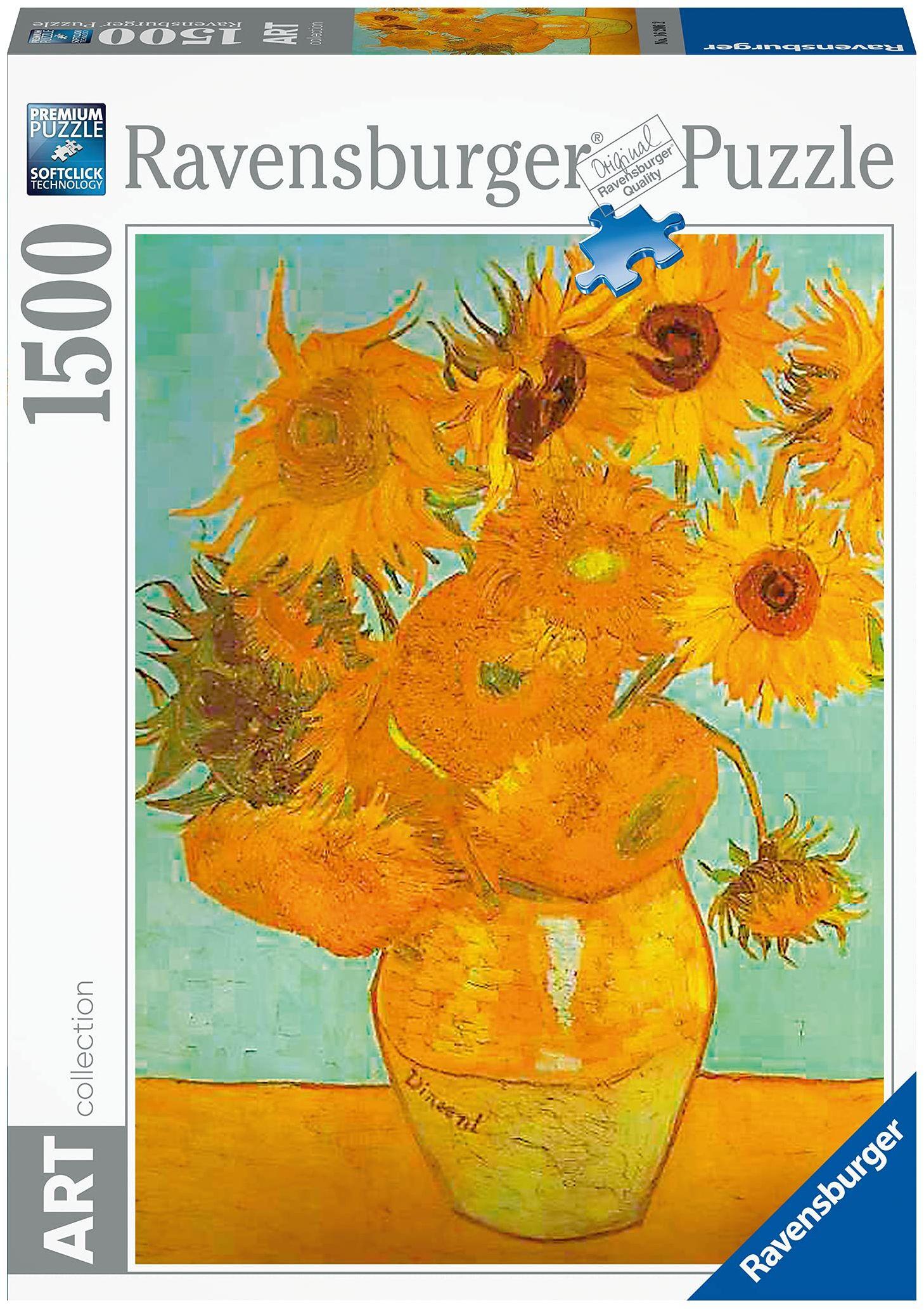Ravensburger Puzzle 1500 części - wazon z słonecznikami - V.Van Gogh (kod 16206)
