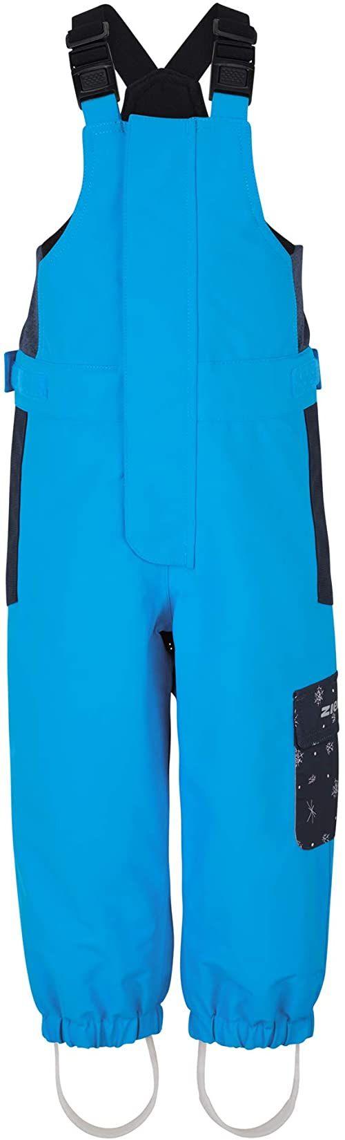 Ziener Dziewczęce spodnie narciarskie ALENA niemowlęce dla dzieci, wodoszczelne, wiatroszczelne, ciepłe, Alpine Wool, atlantic blue, 98
