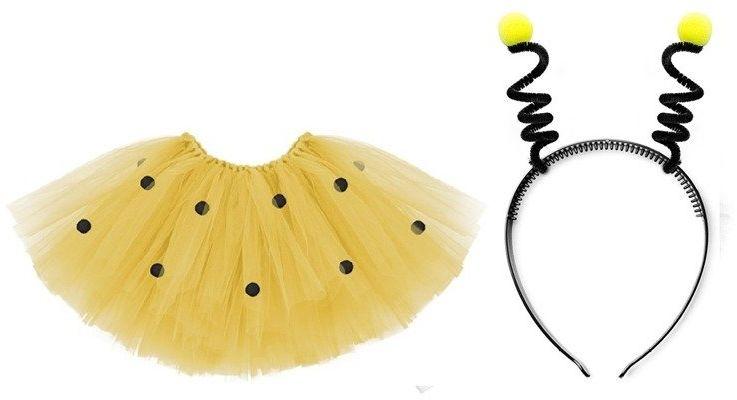 Spódniczka tiulowa i opaska pszczółki komplet TUTU2 + OPP22