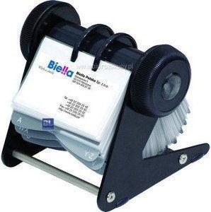 Wizytownik obrotowy DONAU na 400 wizytówek plastikowy czarny /1394001PL01/