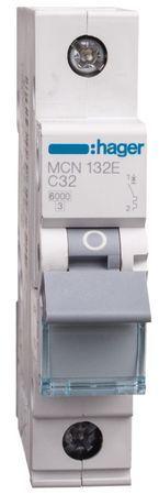 Wyłącznik nadprądowy 1P C 32A 6kA AC MCN132E
