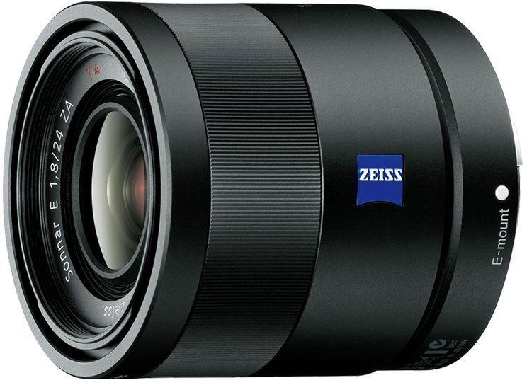 Sony ZEISS Sonnar T* E 24 mm F1,8 ZA, obiektyw szerokokątny z mocowaniem typu E, dedykowany do matryc APS-C (seria a6000, a5100, a5000 i Nex), czarny (SEL24F18Z).