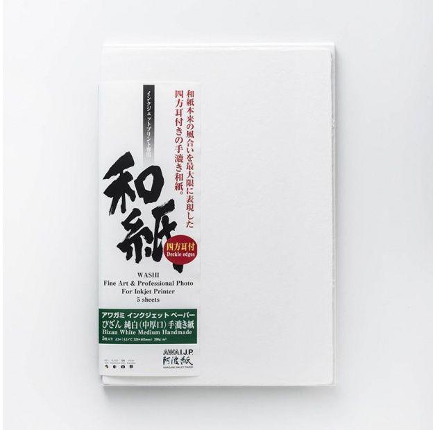 Papier AWAGAMI Bizan Medium White 200 - A3, 5 arkuszy (IJ-3323)