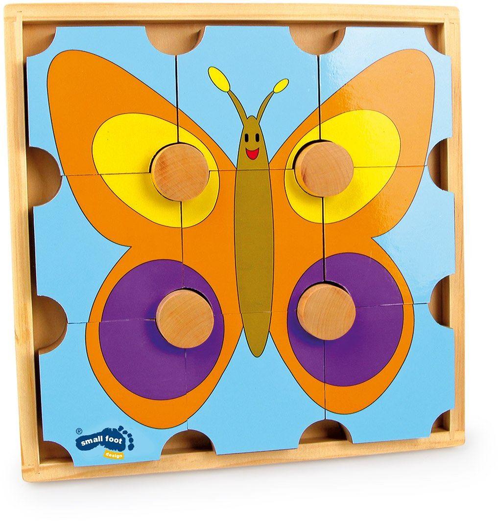 Legler Puzzle niedźwiedź i motyl drewniane puzzle