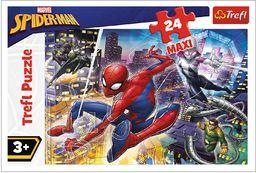 Trefl Nieustraszony Spider-Man Puzzle 24 Maxi Disney o Wysokiej Jakości Nadruku dla Dzieci od 3 lat
