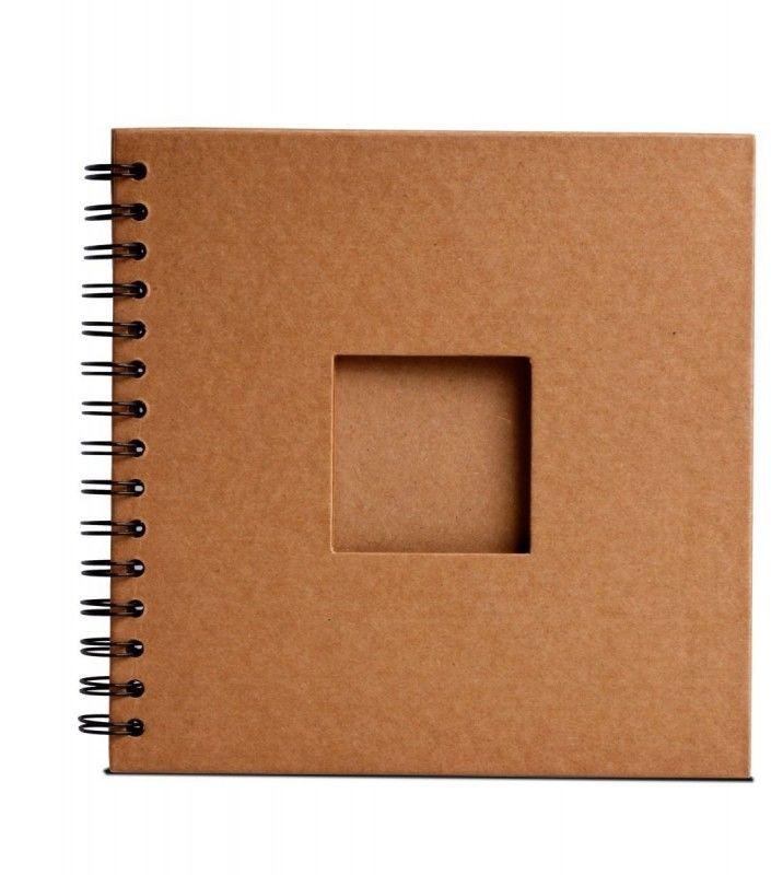 Album na spirali z okienkiem 20x20cm 30 arkuszy 180g Eco Brązowy Happy Color HA 7631 2020-WE30