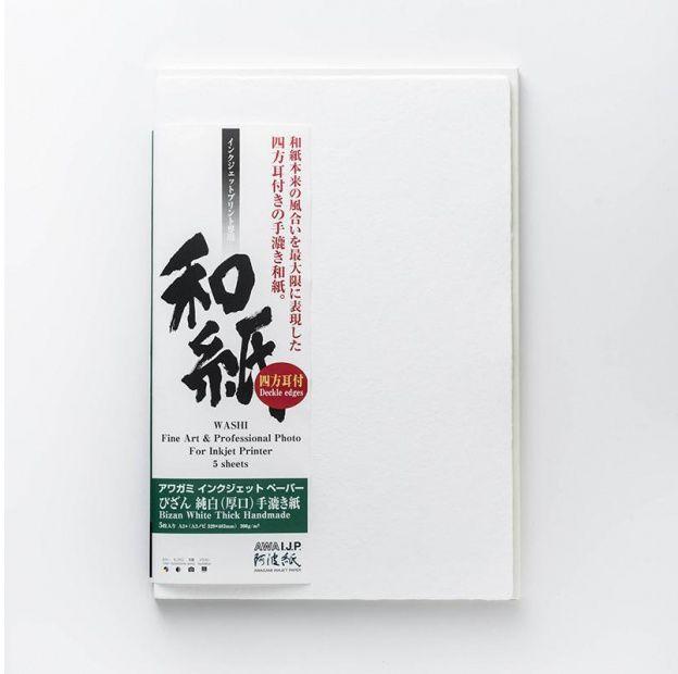 Papier AWAGAMI Bizan Thick White 300 - A1, 5 arkuszy (IJ-3331)