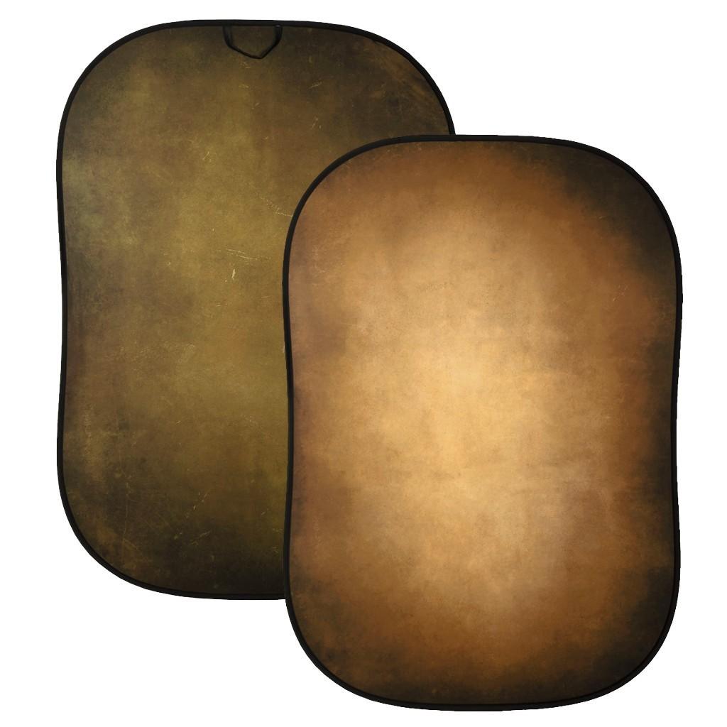 Lastolite LL LB5705 - tło składane dwustronne Vintage Collapsible 1,5x2,1m Tobacco/ Olive