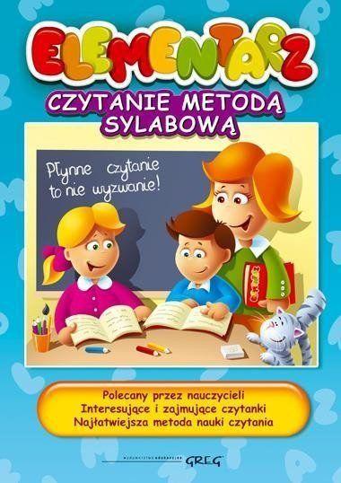 Elementarz - czytanie metodą sylabową Greg - Alicja Karczmarska-Strzebońska