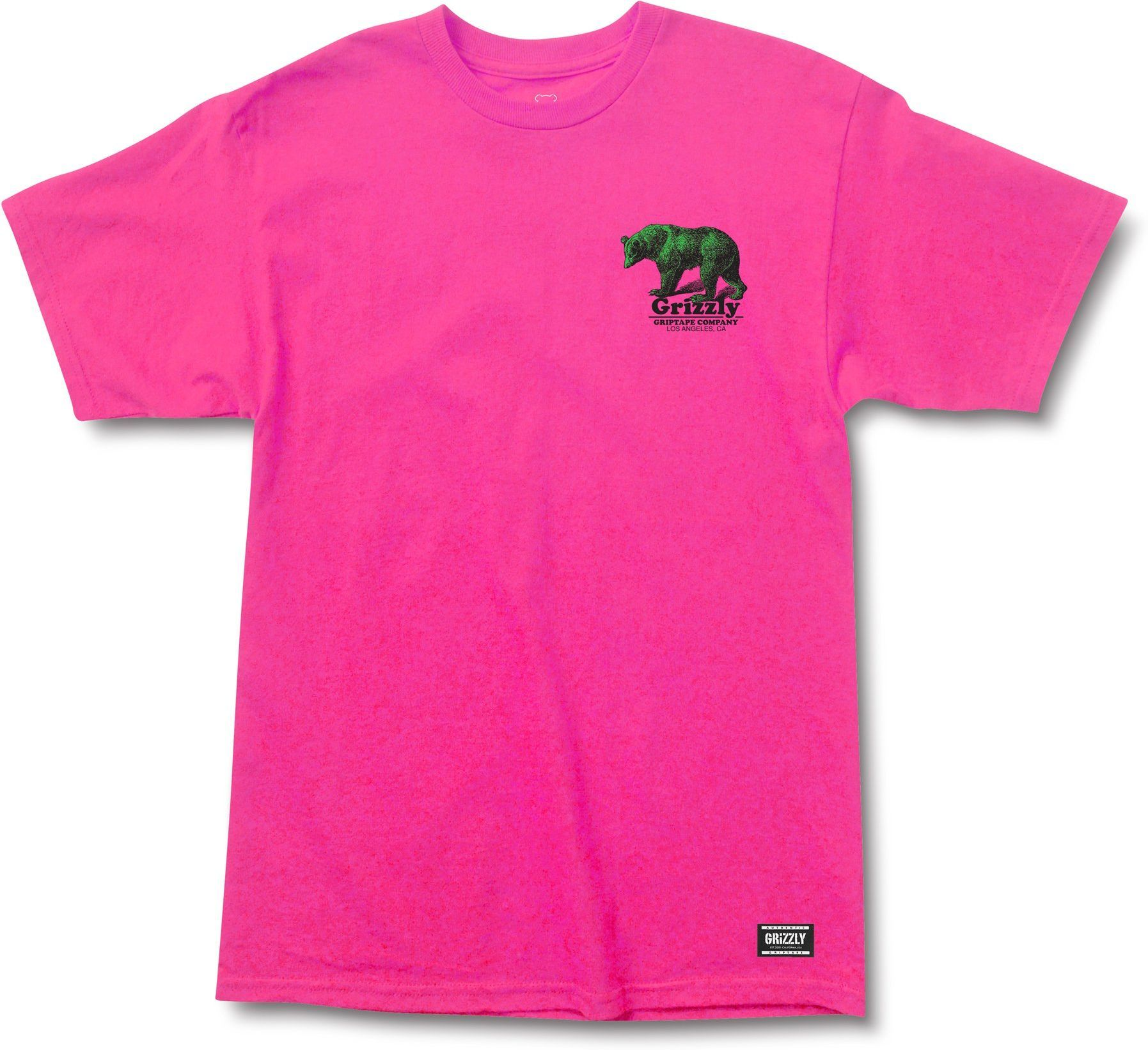 t-shirt męski GRIZZLY FONTAINE TEE Hot Pink