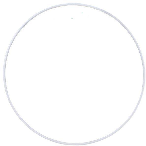 Koło do łapacza snów metalowe 30cm białe lapacz30