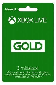 Xbox Live Gold 3 miesiące - Oficjalna dystrybucja - Natychmiastowa realizacja