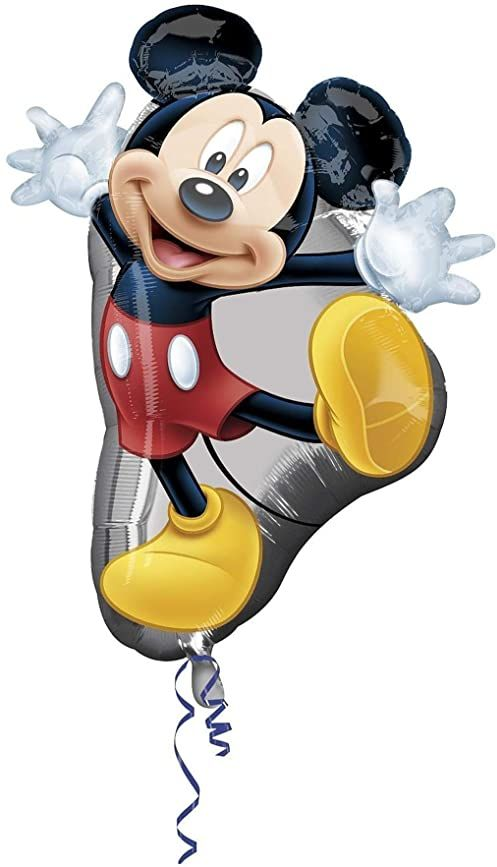 Disney 10107523 balon foliowy w super kształcie z projektem myszy Miki - 1 szt., 89 cm