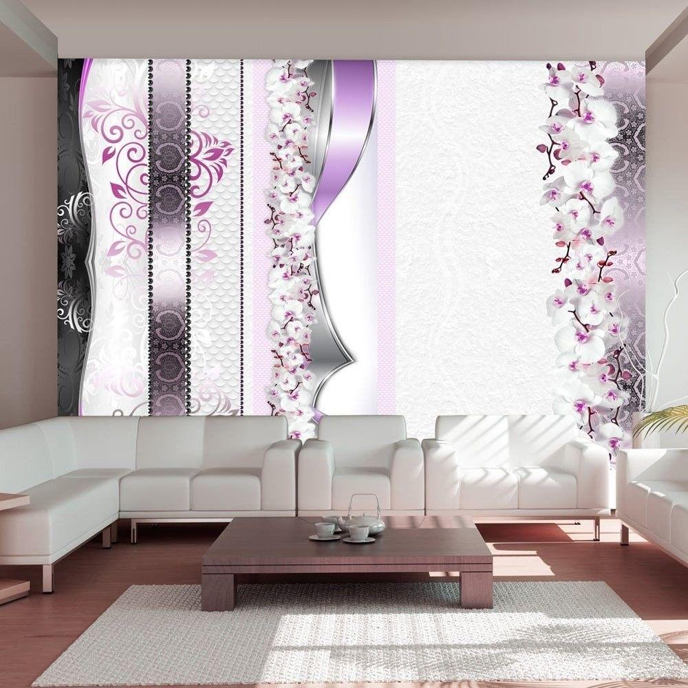 Fototapeta - parada orchidei w fiolecie