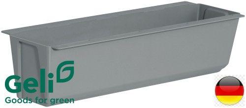 Doniczka +uchwyty do montażu na paletę lub płot Easy 37x10x10cm szara