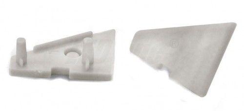 Zaślepka kpl. 2 sztuki do profili LED narożnych 60 stopni