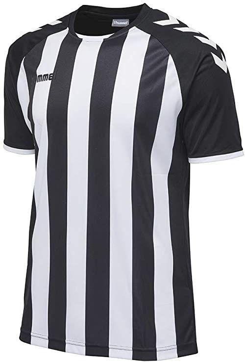 Hummel Core Striped Ss koszulka męska wielokolorowa czarny/biały 64-76