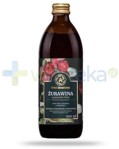 Herbal Monasterium Żurawina sok z żurawiny z witaminą C 500 ml
