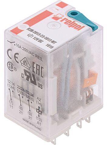 Przekaźnik elektromagnetyczny RELPOL 3PDT Ucewki :12VDC 10A/250VAC