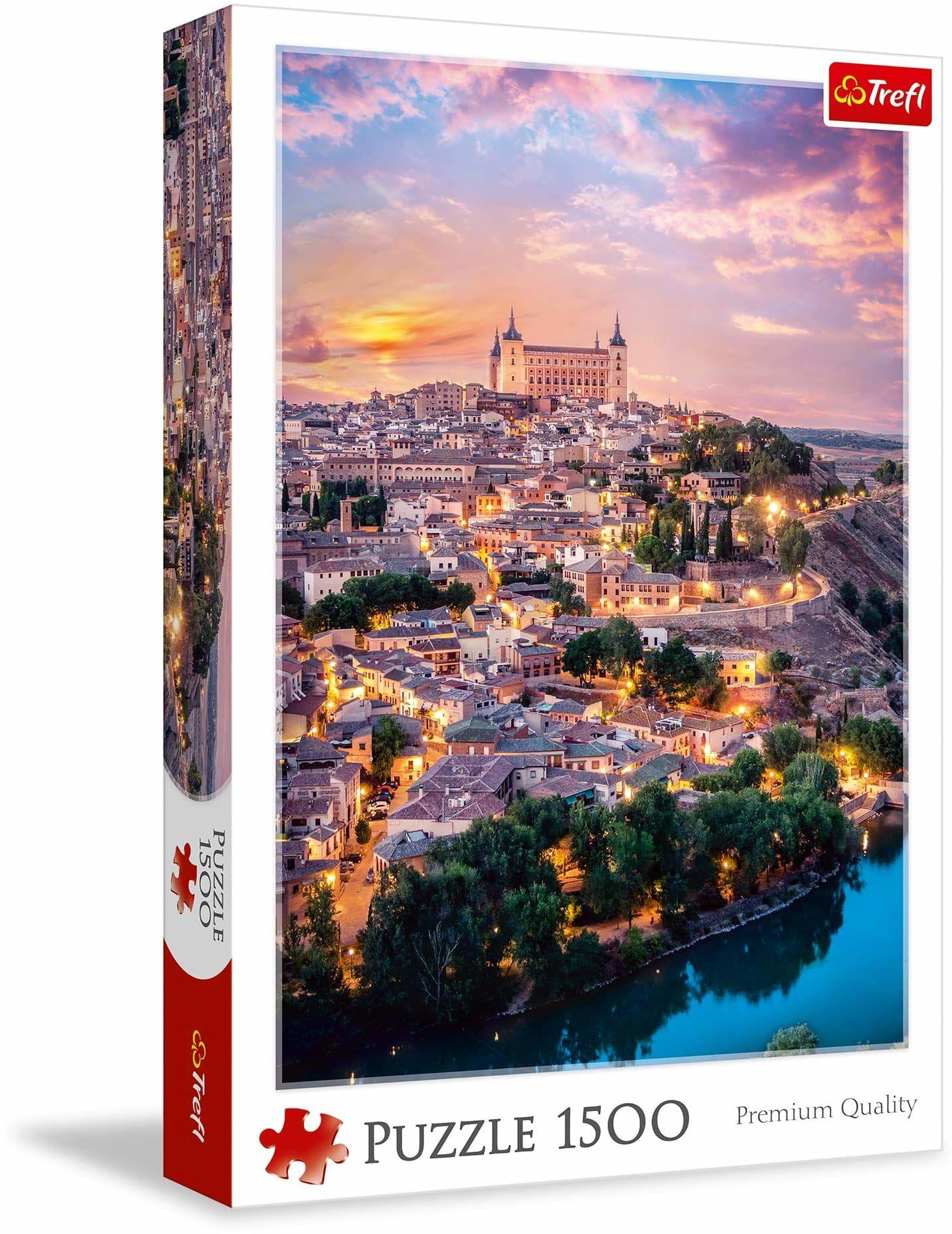 Trefl Toledo Hiszpania Puzzle 1500 Elementów o Wysokiej Jakości Nadruku dla Dorosłych i Dzieci od 12 lat