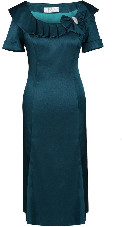 Sukienka FSU214 NIEBIESKI MORSKI