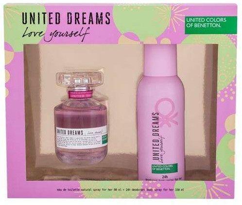 Benetton United Dreams Love Yourself Woda toaletowa 80 ml + Dezodorant 150 ml
