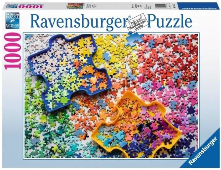 Puzzle 1000 Kolorowe części puzzli - Ravensburger