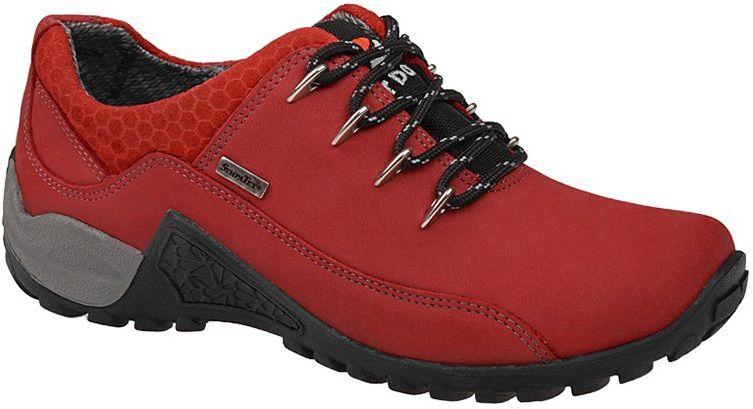 Półbuty trekkingowe NIK 05-0128-310 Bordo Czerwone Buty SympaTex