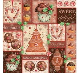 Brązowe Serwetki Świąteczne, Bożonarodzeniowe Wypieki