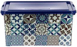 My Note Deco pudełko bistro 23 l, plastik, niebieski, 45,5 x 32 x 22 cm